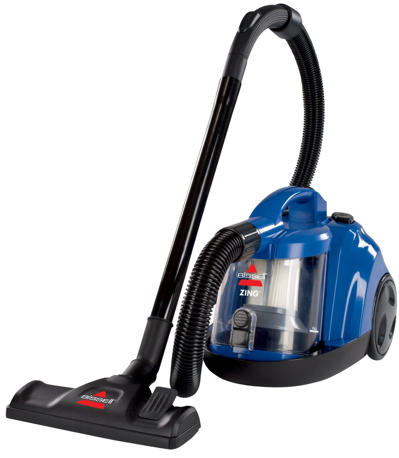 Best BISSELL Zing Bagless Canister Vacuum, Caribbean Blue Review